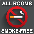 Smoke-free motel rooms!