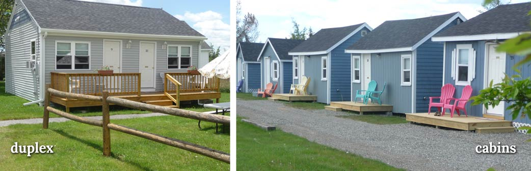 Rental cabins at the Blueberry Patch Motel